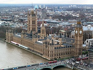 English: Westminster Palace in London, The Gre...