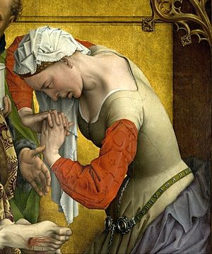 The Descent from the Cross (van der Weyden) - Detail: Mary Magdalene