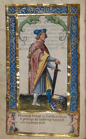 Henry X, Duke of Bavaria - Henry, Duke of Saxony and Bavaria, Weingarten, about 1510