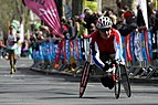 Wheelchair racer during 2013 London Marathon (6).JPG