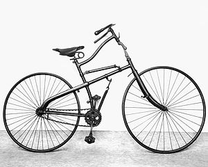 Bicycle suspension - 1885 Whippet safety bicycle