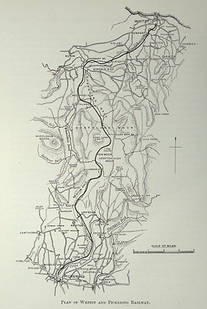 Whitby and Pickering Railway - Image: Whitby and Pickering railway map