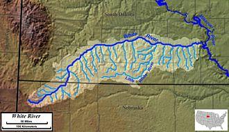 White River (Missouri River tributary) - Image: White River SD map 1