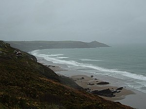 Whitsand Bay Cornwall in the Winter Looking fr...