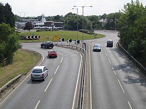 A129 road - A129/A132 roundabout in Wickford