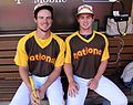 Will Myers and his pitcher - brother Beau - are ready to go in the 2016 T-Mobile -HRDerby. (28005229373).jpg