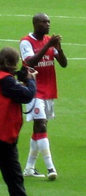 William Gallas - Gallas applauding supporters.