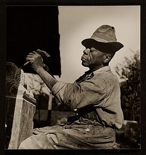 William Edmondson - William Edmonson at work