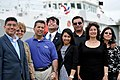 William Flores' family at the naming ceremony of the USCG William Flores.jpeg