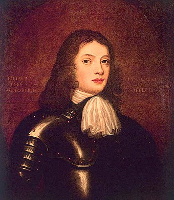 William Penn, the founder of Pennsylvania and West Jersey, as a young man William Penn at 22 1666.jpg