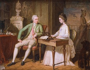 William Hamilton (diplomat) - William and Catherine Hamilton in the villa at Posillipo, by David Allan