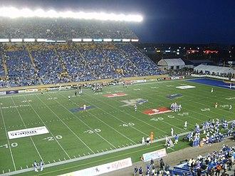 Canad Inns Stadium - Winnipeg Blue Bombers game at Canad Inns Stadium, August 2010
