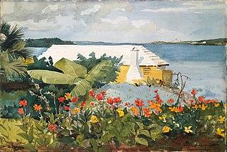 Flower Garden and Bungalow, Bermuda
