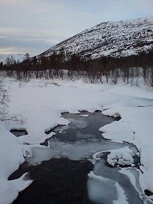 Kvænangen - Winter in Burfjord valley, Kvænangen.