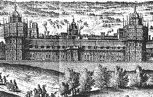 Woodcut of Nonsuch Palace