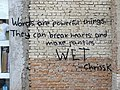 Words Are Powerful Things - Graffito in Tirana - Albania (28904296898).jpg
