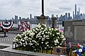 World War I memorial in Weehawken, NJ with George Floyd signs, 6 June 2020.jpg