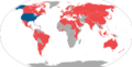 World map of international trips made by Condolezza Rice as United States Secretary of State.png