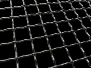 Mechanical screening - 2 mesh with an intermediate crimp
