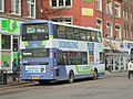 Wright Eclipse Gemini on Volvo B9TL bus of First Leeds (seen from rear) on Vicar Lane, Leeds (26th January 2018).jpg