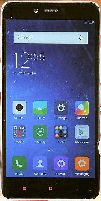 MIUI - Image: Xiaomi Redmi Note 2