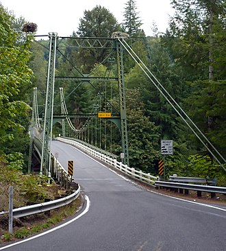 Washington State Route 503 - SR 503 crossing the Lewis River on the Yale Bridge between Clark and Cowlitz counties.