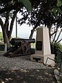 Yefe Nof - Garden - Kayser pyramid and Turkish gun.JPG