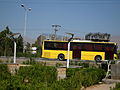 Yellow Bus for an Organization - Road 44 east of Iran - near Simorgh Culture house - Nishapur 7.JPG