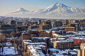 History of Armenia - Yerevan with Mount Ararat in the background