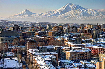 Winter view of Yerevan
