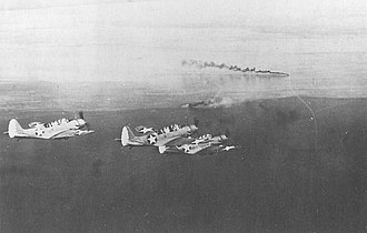 Invasion of Salamaua–Lae - Image: Yorktown TBD Huon Gulf March 1942