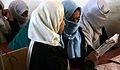 Young Female Afghan Students in Classroom in Gereshk, Afghanistan MOD 45152223.jpg