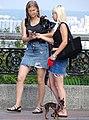 Young Women with Dog - Khreshchatyy Park - Kiev - Ukraine (42834938335).jpg