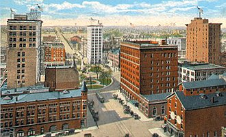 Youngstown, Ohio - Youngstown, 1910s: Central Square and Viaduct (view looking south)