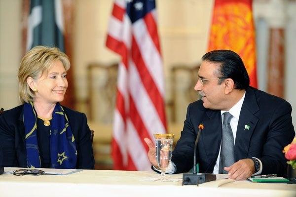 Zardari and Hillary clinton