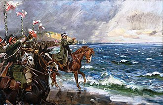 Poland's Wedding to the Sea - Poland's Wedding to the Sea by Wojciech Kossak. Painting of the 1920 ceremony in Puck