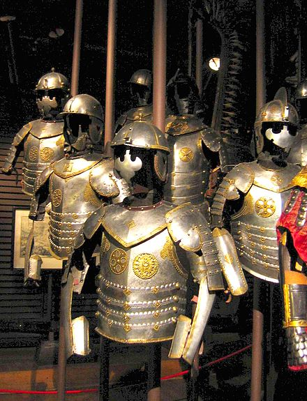 Polish hussars armour, dating to the first half of the 17th century, Polish Army Museum, Warsaw. - Battle of Vienna