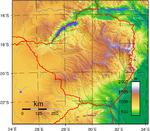 Zimbabwe Topography