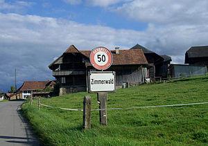Zimmerwald - village entrance of Zimmerwald