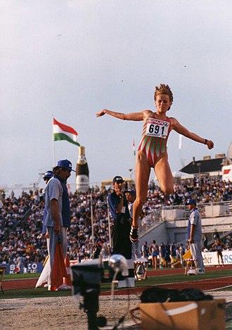 Zita Ajkler - Zita Ajkler competes at the 1998. European  Athletics Championships in Budapest