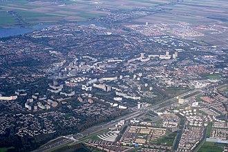 Zoetermeer - Aerial view of Zoetermeer.