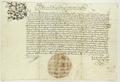 Zygmunt II August król polski przypomina, iż na sejmie piotrkowskim w roku ubiegłym potwierdzone zostało prawo składu miasta Poznania.png