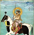 """Shah Jahan on Horseback"", Folio from the Shah Jahan Album MET COVERr5 98M.jpg"