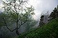 """""""Western Caucasus"""", Загадочный каньон реки Ходзь в облаках и тумане, горы Западного Кавказа.jpg"""
