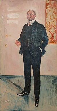 'Walter Rathenau' by Edvard Munch, Bergen Kunstmuseum.JPG