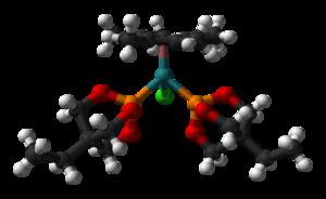 Trimethylolpropane phosphite - Image: (Cp Me 5)Ru Cl(Et Cage)2 from xtal 1996 3D balls