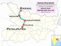 (Raxaul - Pataliputra) Intercity Express route map.png