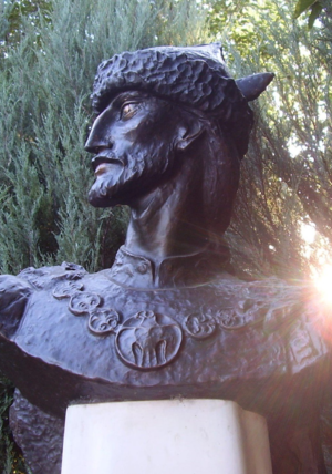 Principality of Hungary - The bust of Árpád at Pest County, Árpád park.