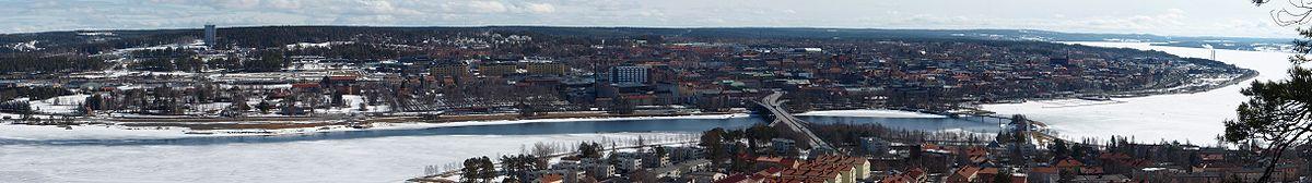 Panorama over Östersund, set fra Frösön.