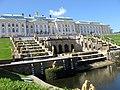 Большой каскад и Большой Петергофский дворец..jpg